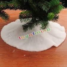 White Christmas Tree Skirts Xmas Decoration Simulation Of Snow Handmade Craft Party Wedding Supplies