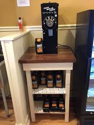 Rustic Wood Small Retail Table Grinding Station Great Example Of Making Use A