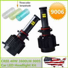 usa stock fast shipping cree 40w 3600lm hb4 9006 led headlight