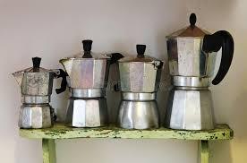Download Vintage Italian Coffee Machine For Homemade Stock Photo