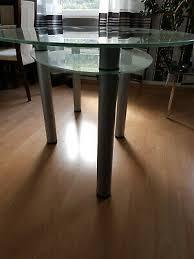 glastisch esstisch oval wohnzimmer esszimmer 160x100x75