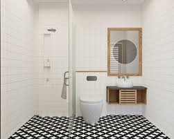 premium photo modern and simple small bathroom design with