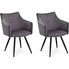 ibbe design 2er set grau esszimmerstühle lounge chesterfield