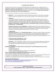 Resume Examples Grad School ResumeExamples
