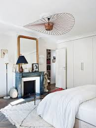 Shabby Chic White Ceiling Fans by Boho Chic Parisian Apartment With A Personality Digsdigs