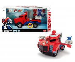 Jual Transformers Optimus Prime Battle Truck By Dickie Toys Hasbro ...