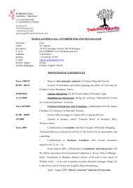 Freelance Translator Resume Cover Letter Carpinteria Rural Friedrich Cv Translation Spanish