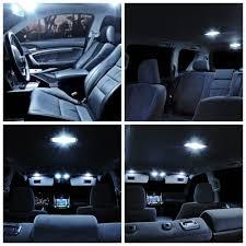 8pcs Xenon White LED Light Bulbs Interior Package Kit For Nissan ...