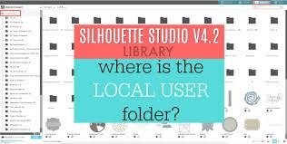 100 Studio 101 Designs Silhouette V42 Library Where Is The Local User