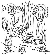 Under Water Fishes Coloring Pages