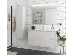 badezimmer badmöbel 100 cm ulisse aus mattweiß holz mit porzellan waschtisch abmessungen 100 cm zubehör standard