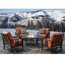 Vintage Homecrest Patio Table by Homecrest Trenton Outdoor Patio Firepit Set With Club Chairs