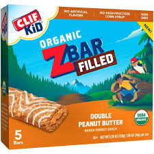 Clif KidR ZBar Filled Organic Double Peanut Butter Baked Energy Snack
