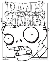 Plants Vs Zombies Coloring Pages Woo Jr Kids Activities