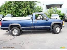 100 1998 Chevy Truck For Sale Chevrolet CK 2500 K2500 Regular Cab 4x4 In Indigo Blue