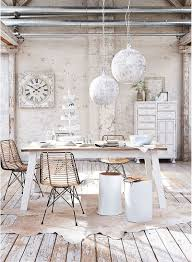 dinning rooms vintage shabby chic dining table with vintage