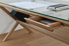 glass and wood office desk alluring kids room plans free and glass