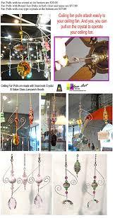 Swarovski Crystal Lamp Finials by Fan Pulls With Don Beads U0026 Swarovski Crystal Glass Art And Beads