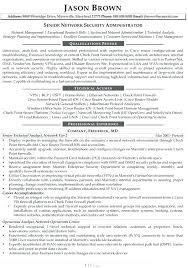 Security Resume Objectives Network Senior Administrator Sample
