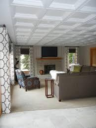 Acoustic Ceiling Tiles Home Depot by Interesting Charming Basement Ceiling Tiles Cozy Design Basement