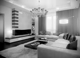 interior living room cream and black leather sofa on brown