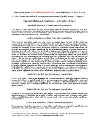 13Aug16 – We the de jure People in Colorado – Notice of Fraud