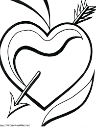 Roses Coloring Book Pages Hearts With Colored Pencils Favorite Pdf Full Size