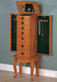 SALE: $285.00 Classic Oak Jewelry Armoire - Coaster Co. | Bedroom ... Necklace Holder Beautiful Handmade Armoire Jewelry Box Of Exotic Woods Fniture Best Wood Storage Material Design For Bedroom Outstanding Kohls Walmart Cherry In Decor Pretty Of Perfect Ideas Sale 28500 Classic Oak Coaster Co Wallmounted Locking Wooden 145w X 50h In Cabinet Organizer With 6 Drawers Armoires Hillary Rich Walnut Hives And Honey With Used Jewelry Armoire Abolishrmcom Readers Gallery Fine Woodworking Belham Living Swivel Cheval Mirror Hayneedle