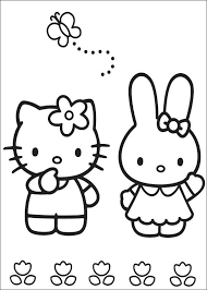 Coloring Pages Of Hello Kitty With Friends