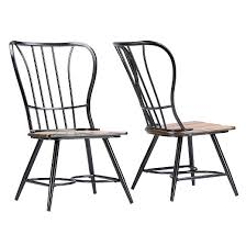 longford industrial dining chair set of 2 baxton studio target