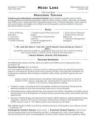 Special Needs Educator Resume Teaching Sample Elementary