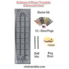 Cribbage Board 3 Lane Steel Template Starter Kit Woodworking Made In The USA