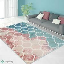 teppich modern designer wohnzimmer inspiration vintage novel pastell blau rosa
