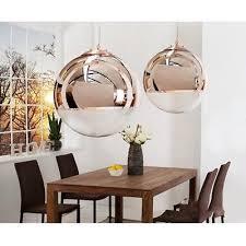 design hängele kugelle globe pendelleuchte glas kupfer