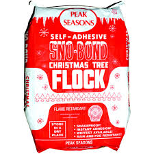 Christmas Tree Flocking Kit by Flock Sno Bond White 25lb Bag Kirk Company