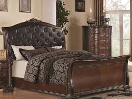 King Platform Bed With Tufted Headboard by Bed Frame Rectangle White Leather High Platform Bed Frame With