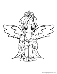 My Little Pony Friendship Is Magic Princess Twilight Sparkle Coloring Pages Page Colouring C