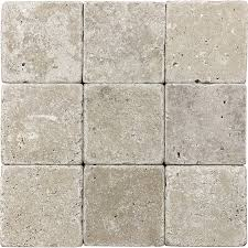 shop 9 pack 4 in x 4 in noce tumbled marble wall