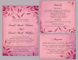 Beautiful Wedding Invitation Card Word File