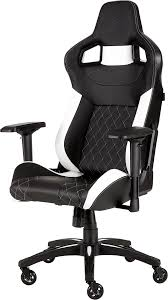 CORSAIR T1 RACE 2018 Gaming Chair — Black/White Killabee 8212 Black Gaming Chair Furmax High Back Office Racing Ergonomic Swivel Computer Executive Leather Desk With Footrest Bucket Seat And Lumbar Corsair Cf9010007 T2 Road Warrior White Chair Corsair Warriorblack By Order The 10 Best Chairs Of 2019 Road Warrior Blackwhite Blackred X Comfort Air Red Gaming Star Trek Edition Hero