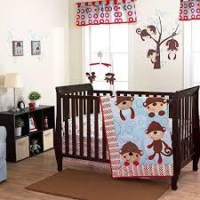 monkey crib bedding totally kids totally bedrooms kids