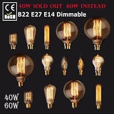dimmable e27 e14 b22 60w 40w vintage antique retro style lighting