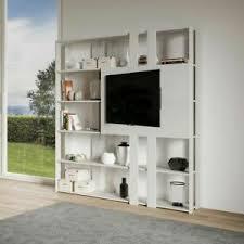 details zu bücherregal mit tv wand kato n aus holz itamoby wohnzimmer büro modern 178x204cm