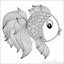 Draw Background Fish Coloring Pages For Adults At 1000 Images About On Pinterest