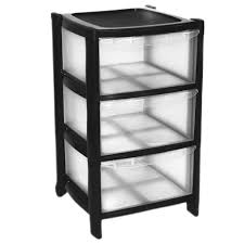 Plastic Drawers On Wheels by 3 Drawer Plastic Large Tower Storage Drawers Chest Unit With