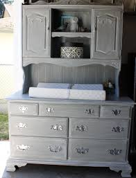 Babies R Us Dresser With Hutch by Vintage Ethan Allen Dresser Repurposed Into Weathered Gray