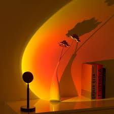sunset le sonnenuntergang le regenbogen projektion licht warm led nachticht dekoration led le verwendet in schlafzimmer wohnzimmer