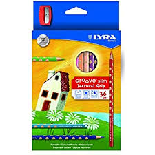 LYRA Groove Slim Child Grip Triangle Colored Pencils Triangular School Supplies Coloring