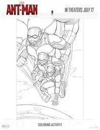 Free Printable Ant Man Coloring Page