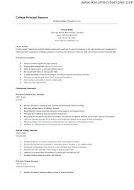 Good College Resume Examples Application Student Sample Principal Wire Diagrams Easy